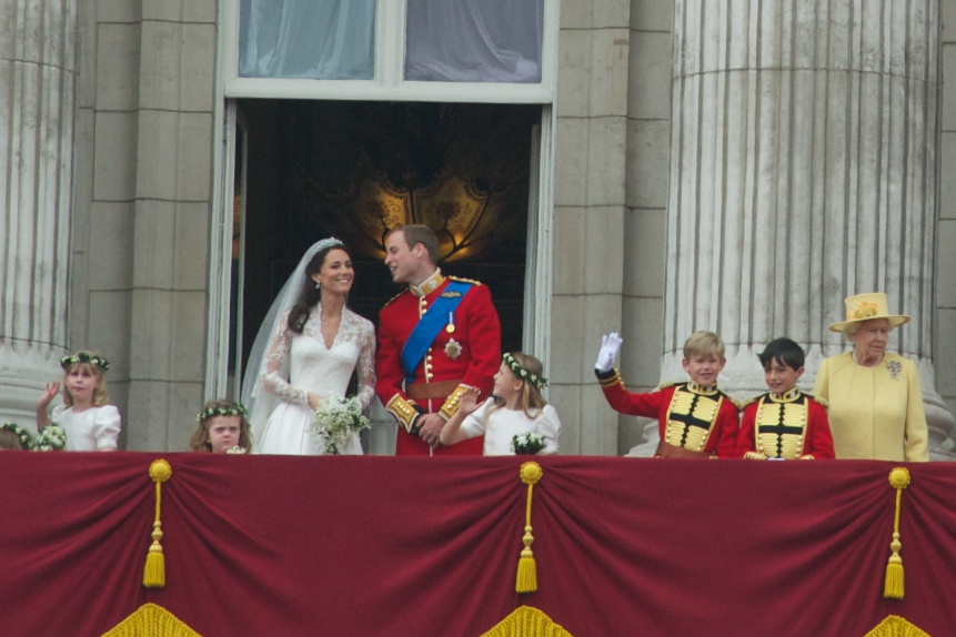 File Wedding Prince William Balcony Buckingham Palace Jpg