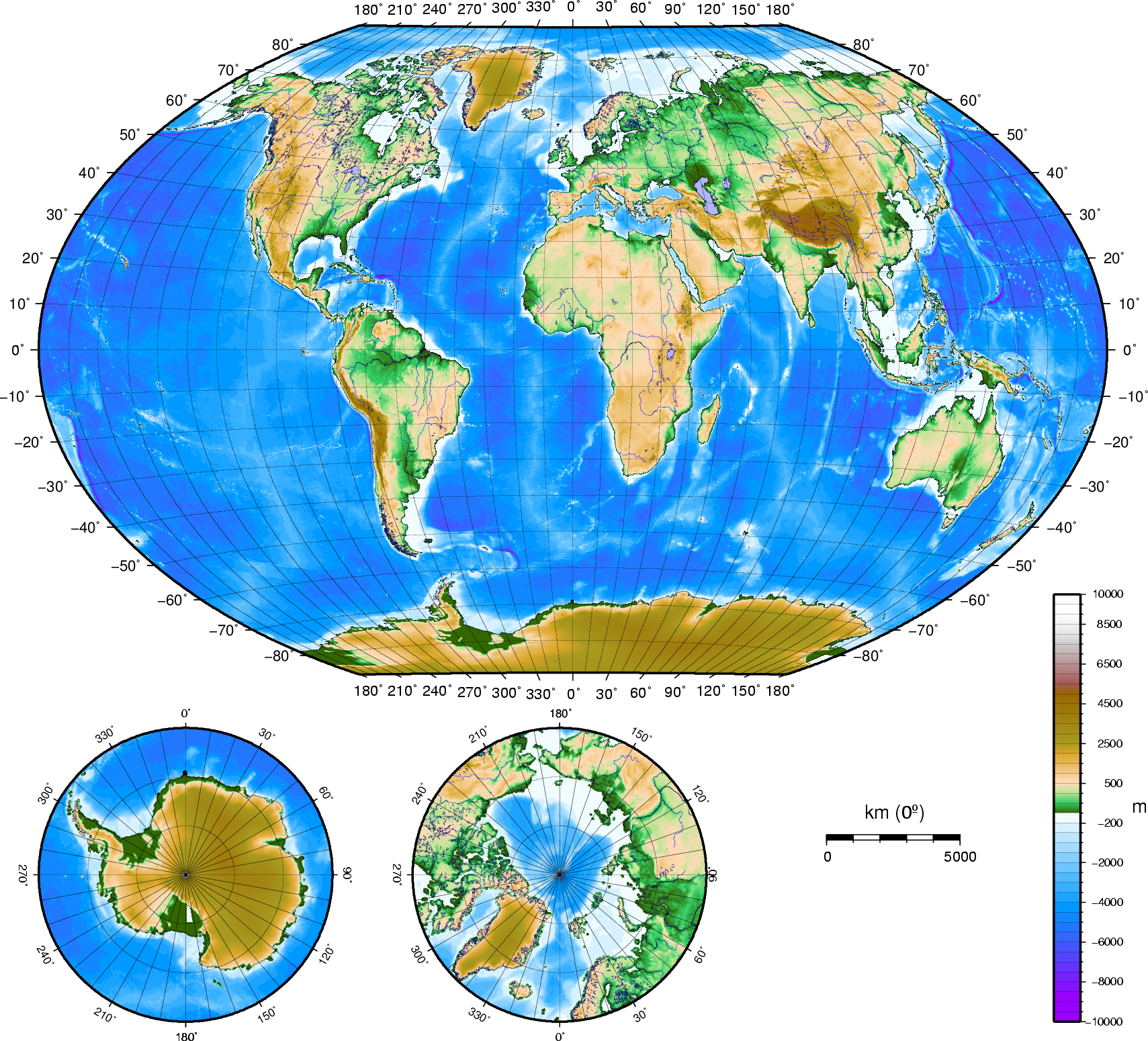 Atlas Of The WorldPhysical And Topographical Wikimedia Commons - Topographic map of the world