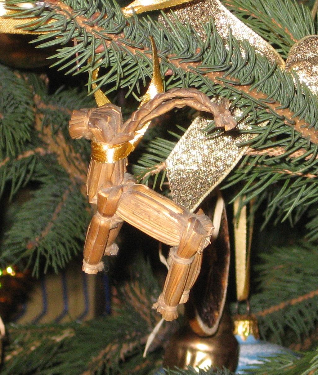 Goat Christmas Ornament.Yule Goat Wikipedia