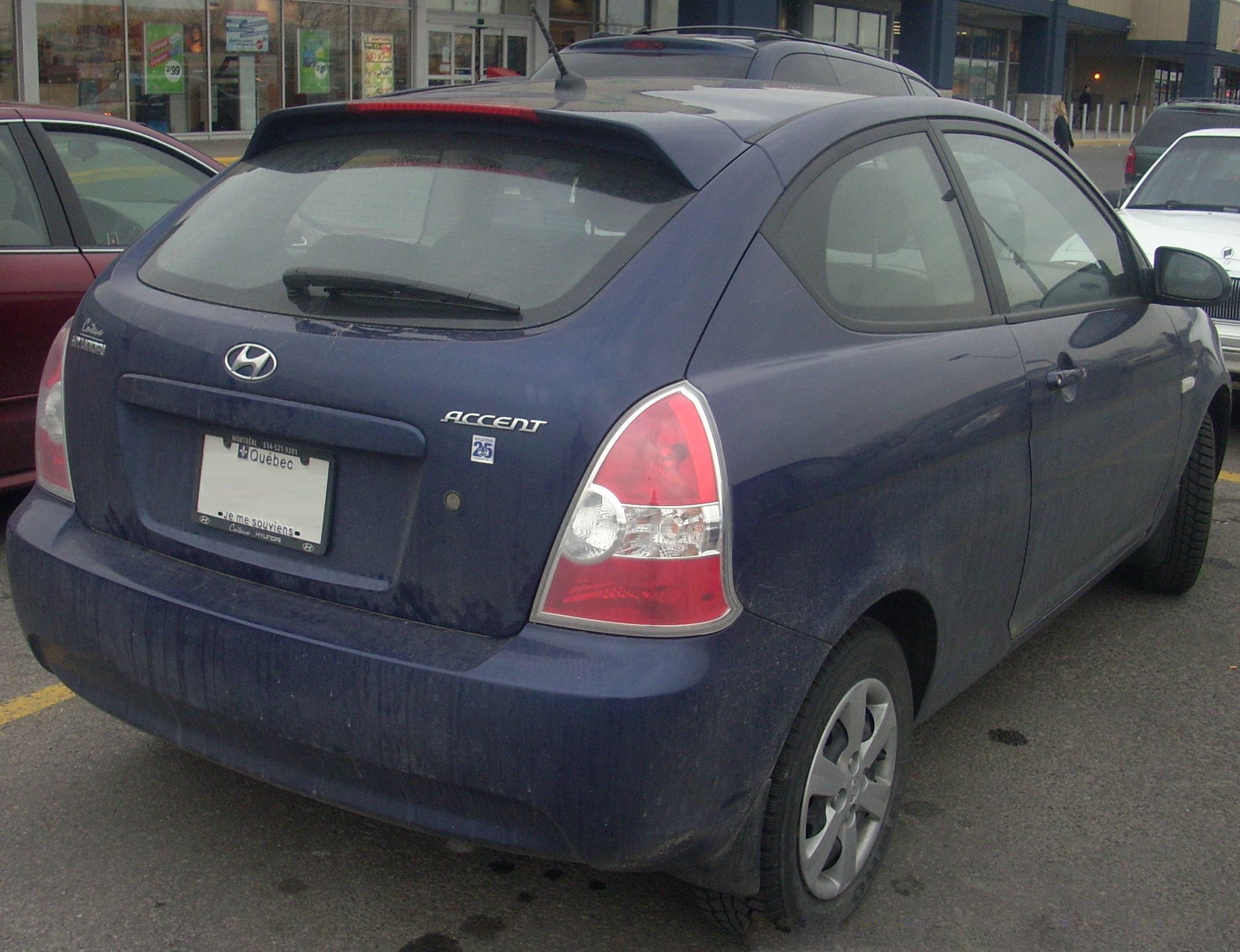 File 09 Hyundai Accent 25th Anniversary Hatchback Rear