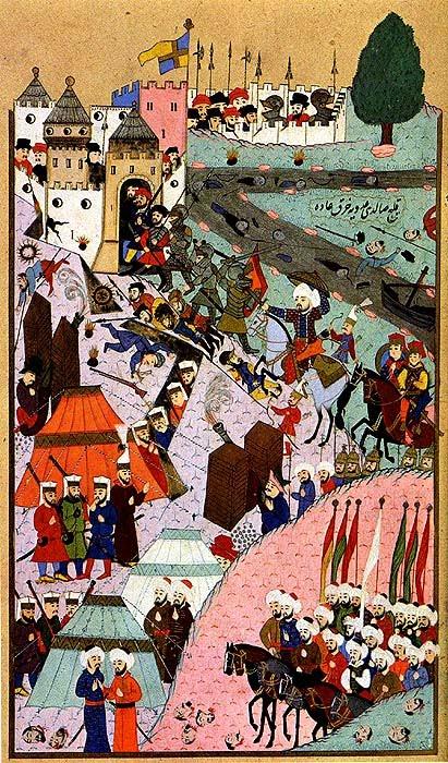 Prise du Chateau de Budapest par les Ottomans en 1526.