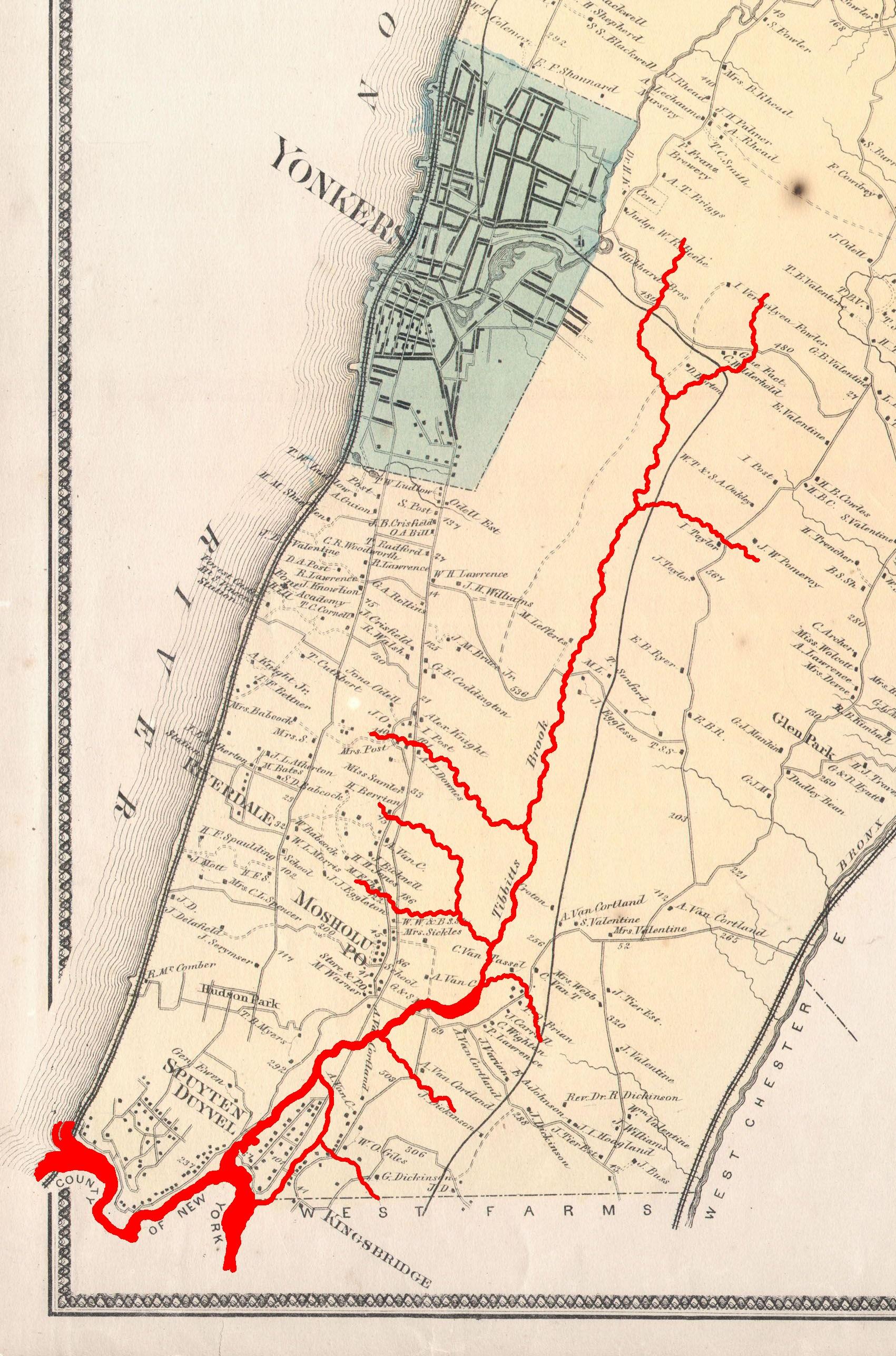 File1867 Beers Map of Yonkers Tibbetts Brook 02jpg Wikimedia