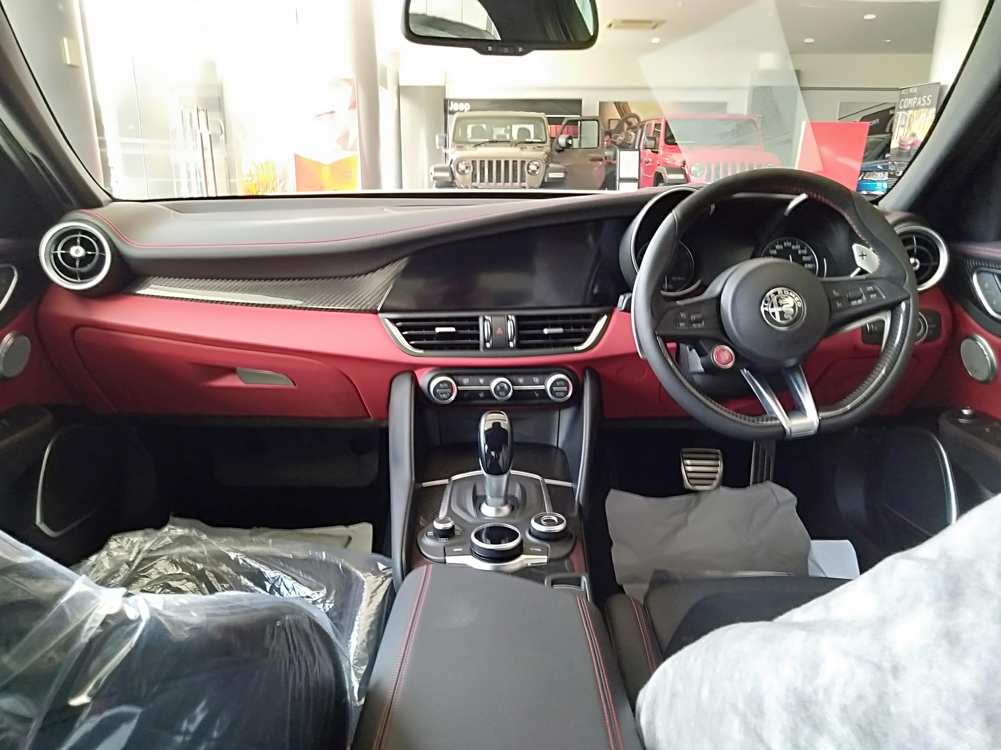 File 2021 Alfa Romeo Giulia Quadrifoglio 2 9 Silver Interior View In Brunei Jpg Wikimedia Commons