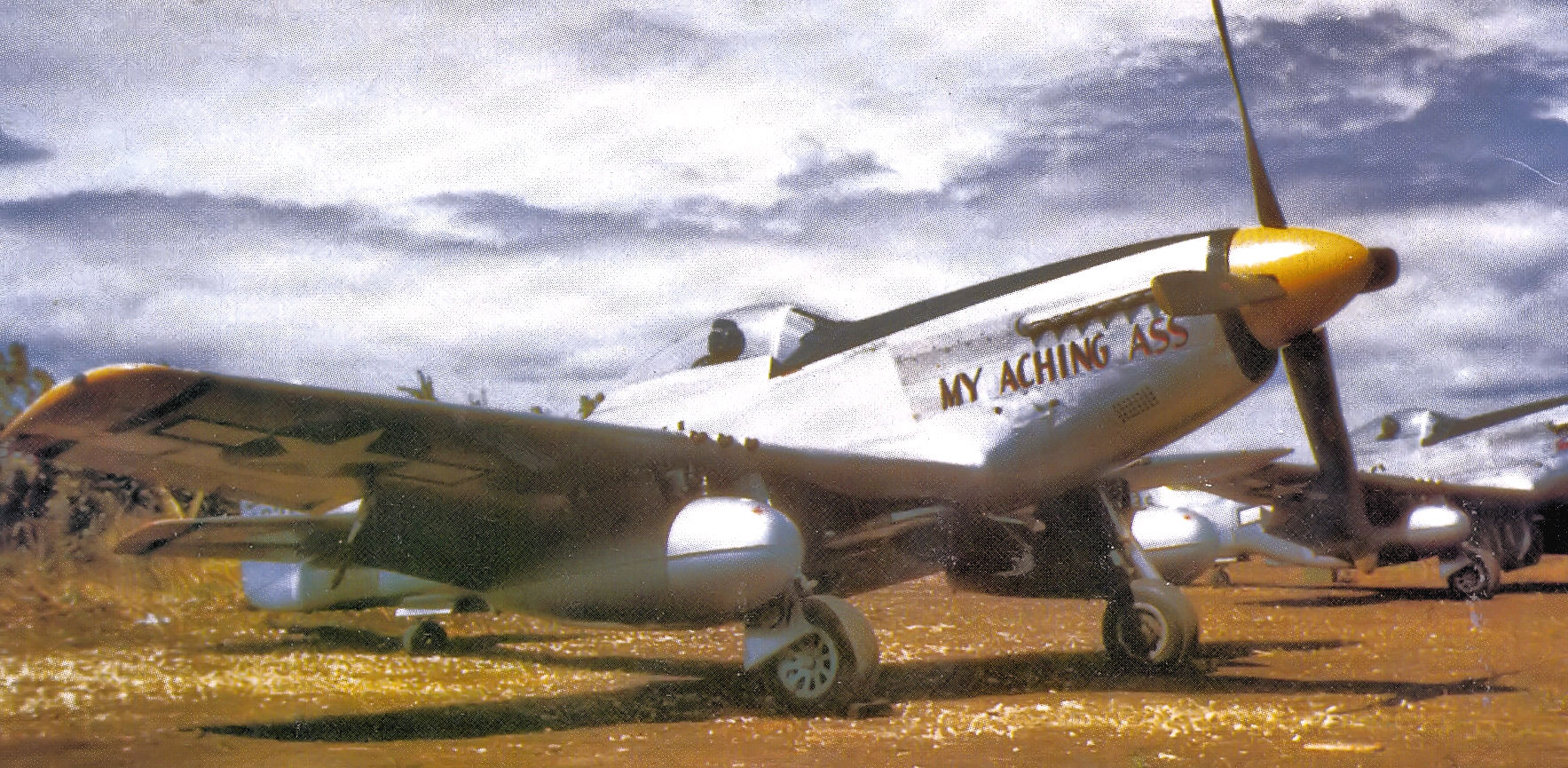 File 72d Fighter Squadron P 51 Mustang North Field Iwo