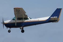 Seletar Flying Club's Cessna 172 on approach to Seletar Airport's runway 03