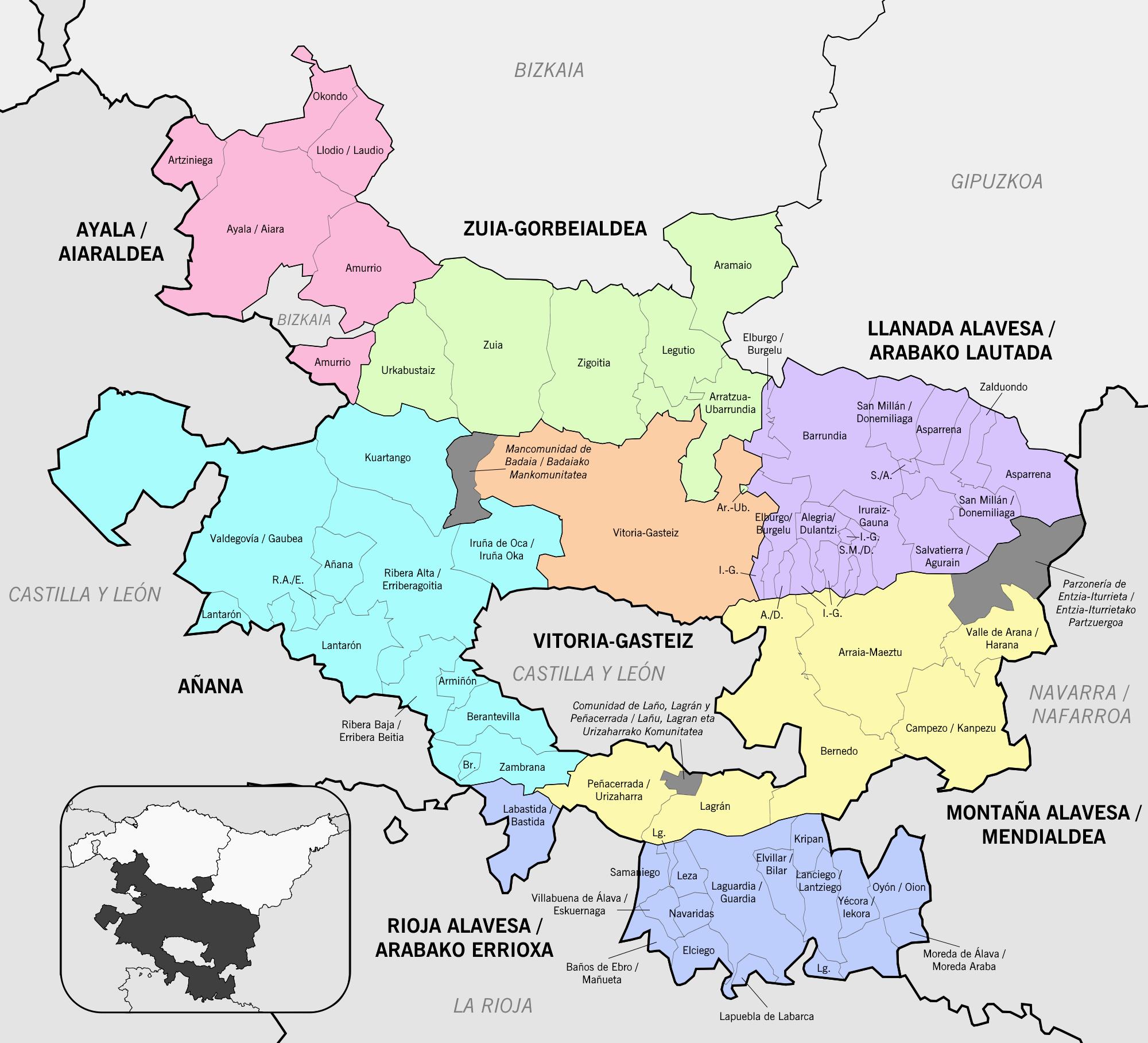 Municipios de Álava