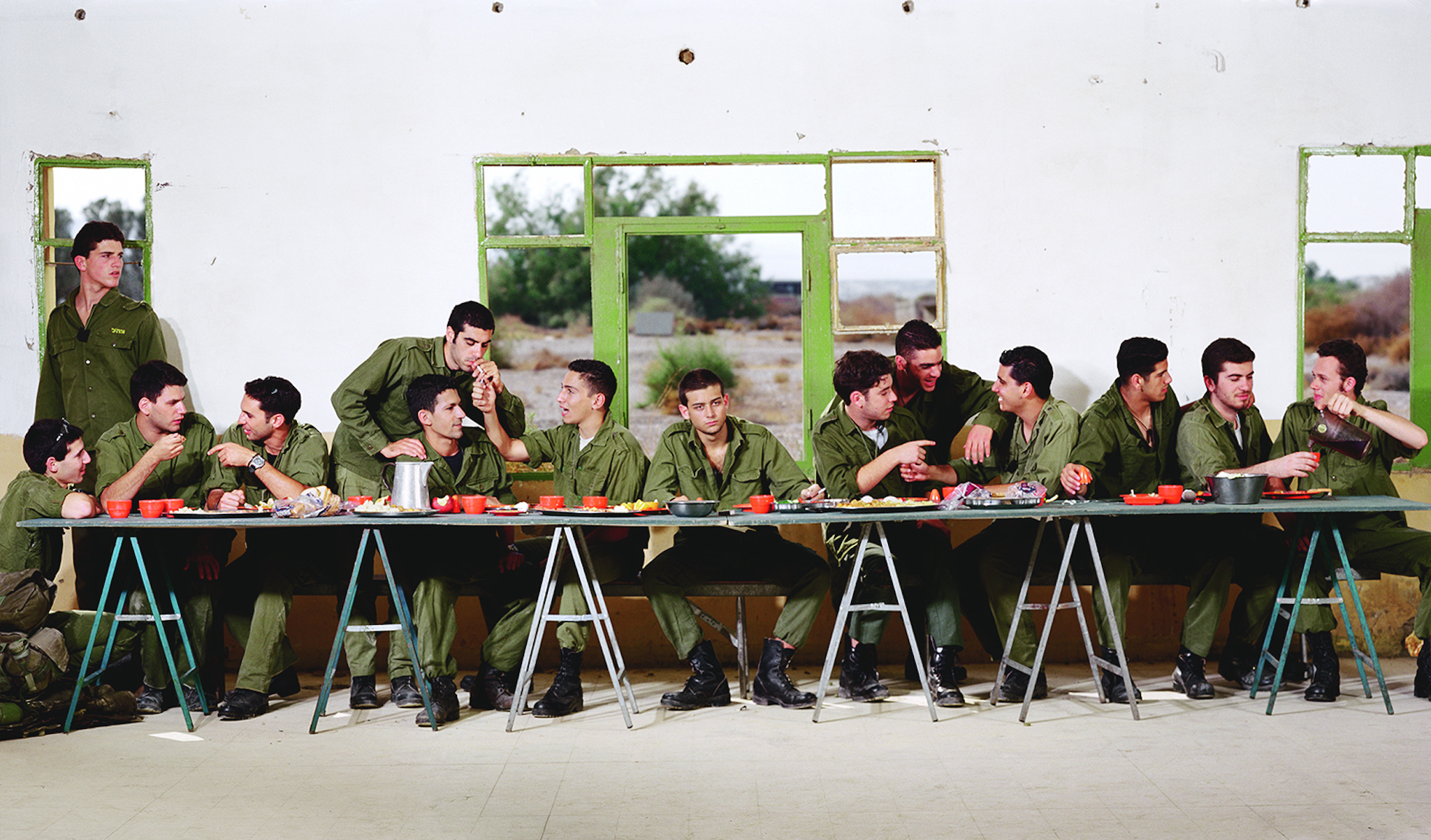 ללא כותרת (הסעודה האחרונה), 1999 אוסף מוזיאון ישראל | cc: ויקיפדיה