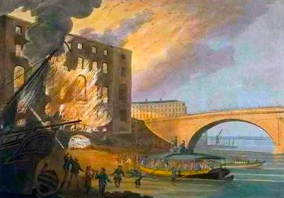 Albion Mills on Fire Robert Barker