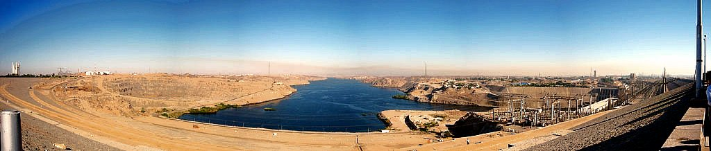 A panorama of Aswan Dam