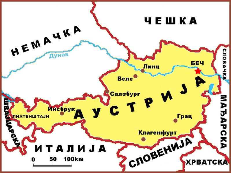 mapa austrije i nemacke Географија Аустрије — Википедија, слободна енциклопедија mapa austrije i nemacke