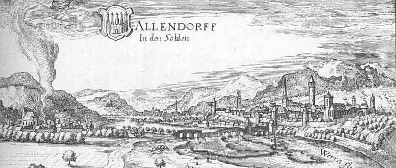 Allendorf – Auszug aus der Topographia Hassiae von Matthäus Merian 1655
