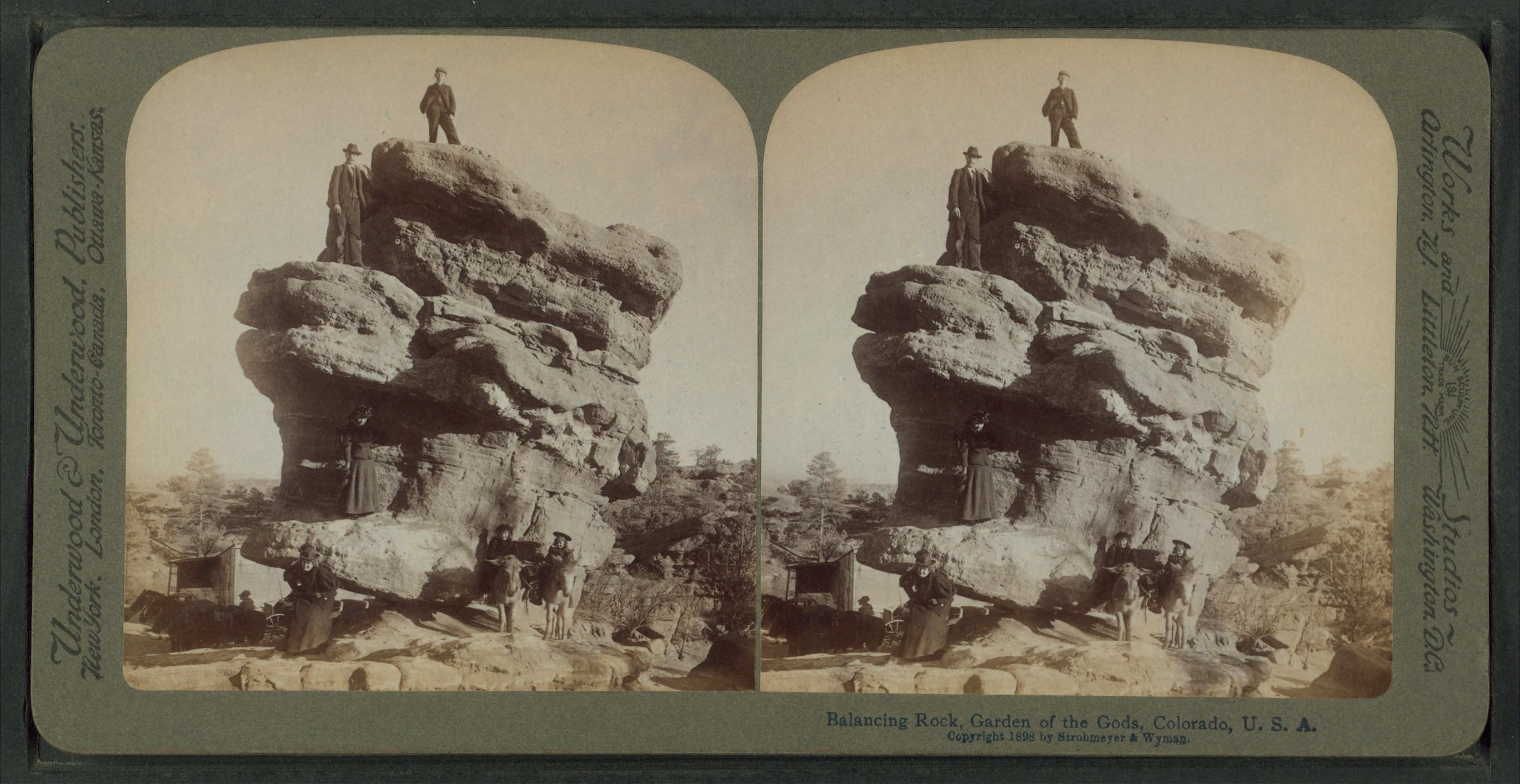 File Balancing Rock Garden Of The Gods Colorado U S A