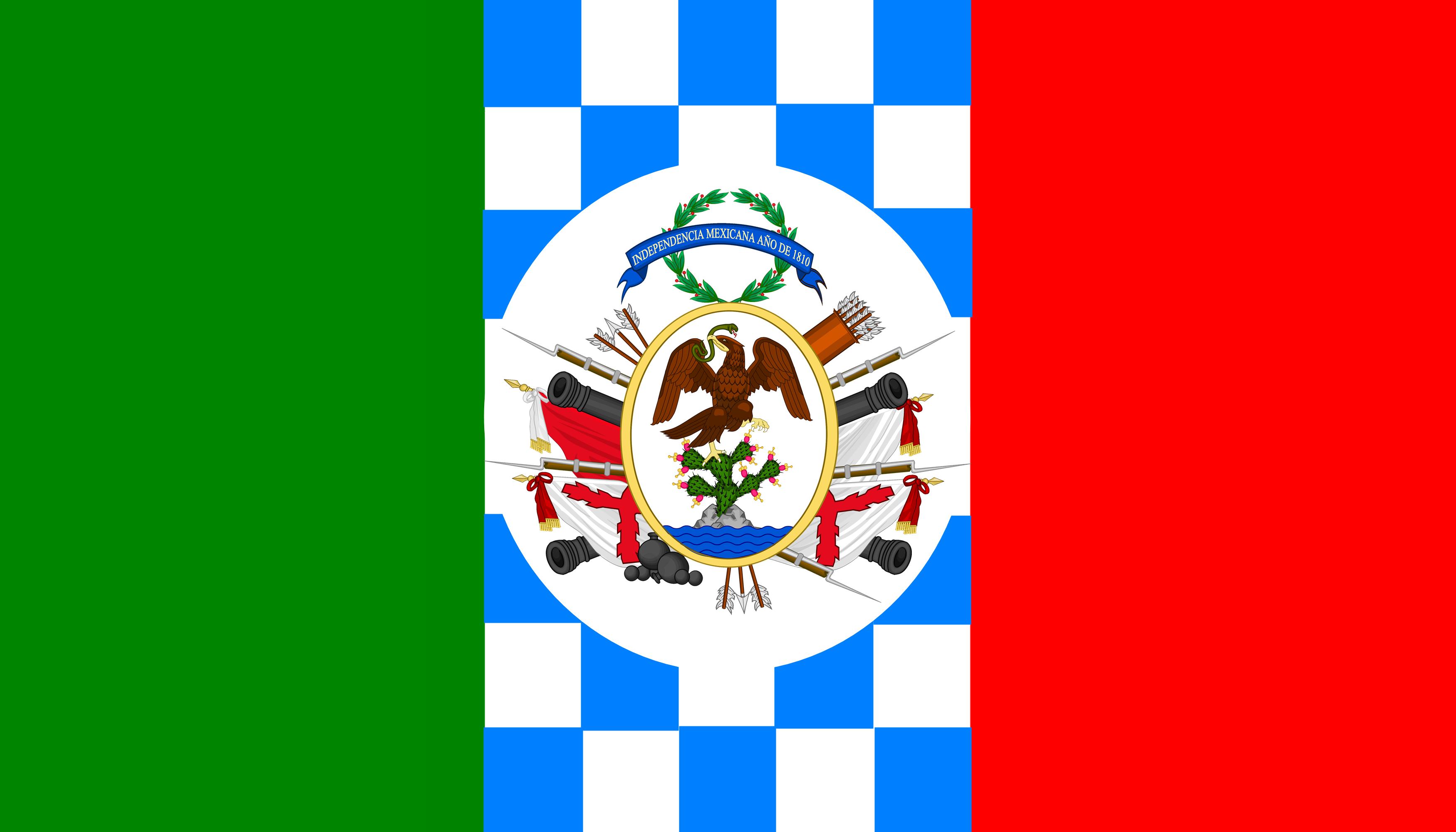 File Bandera De Mexicano Insurgents Combinacion Tricolor
