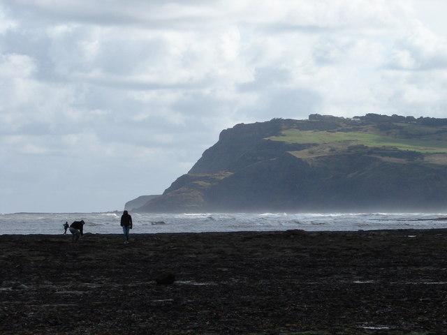 Beachcombing at Robin Hood's Bay - geograph.org.uk - 576029