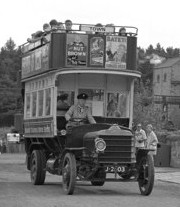 Replica of 1913 Daimler CC double-decker bus