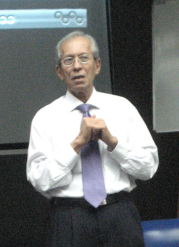 Weerakoon, delivering a talk