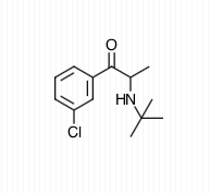Estructura química del bupropion