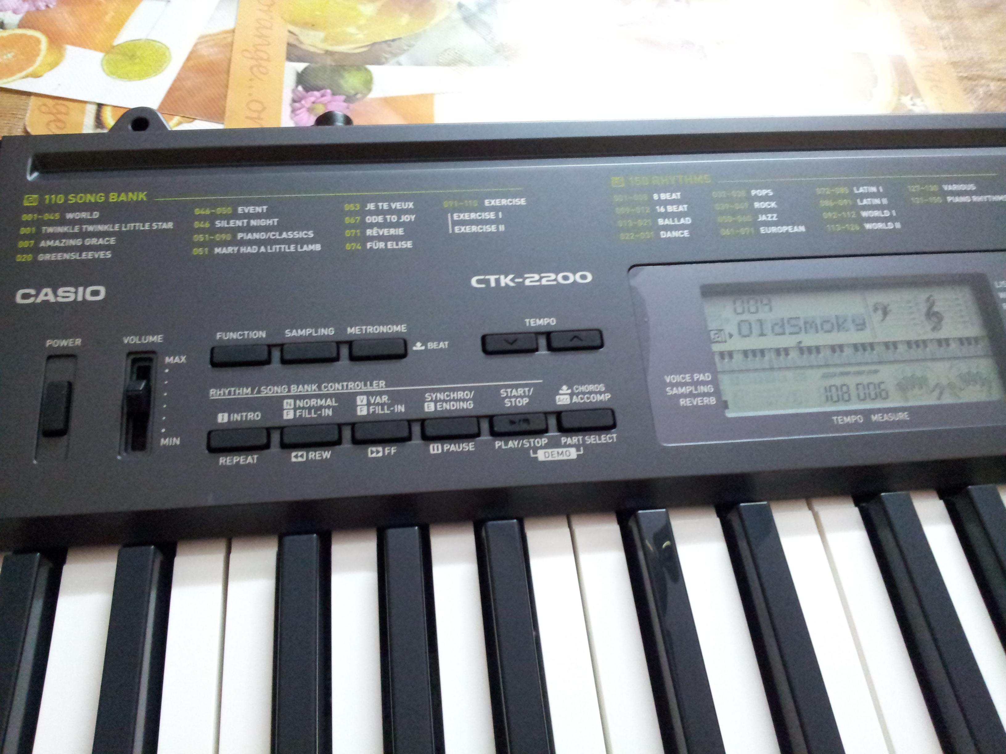 casio electric piano keyboard