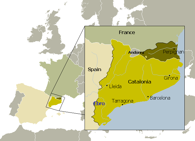 Catalan Map Of Spain.Catalonia The Catalan Language 10 Facts Maps