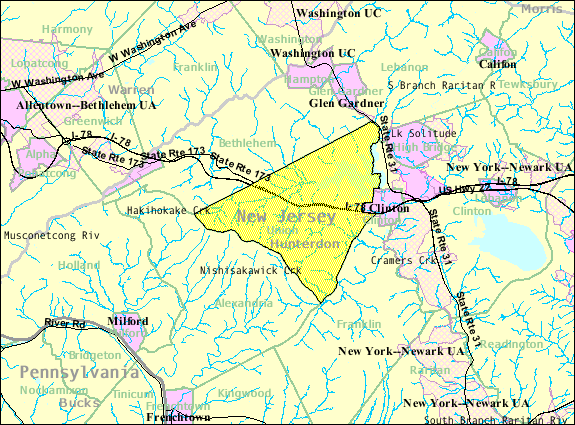 Map Of Hunterdon County on