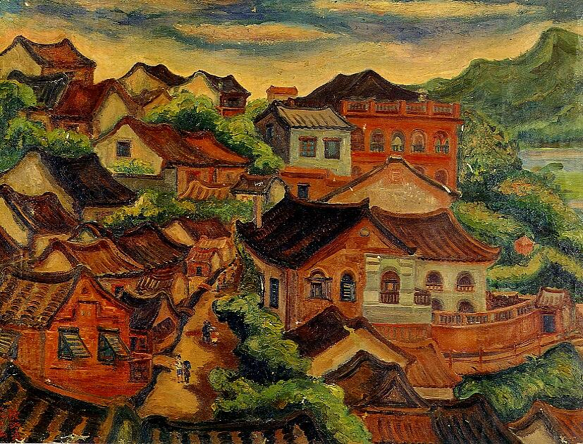 chinese oil painting wikimedia commons