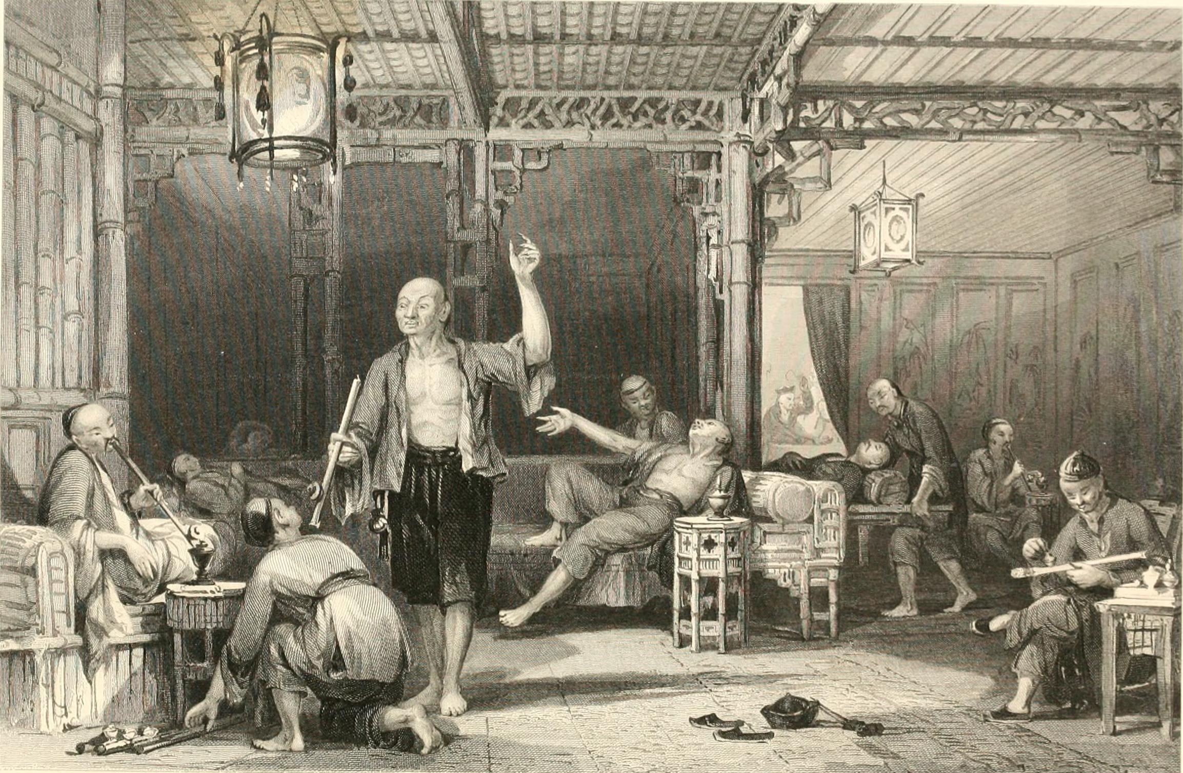 history of opium in chinese opium smokers c 1858