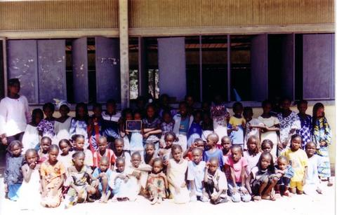The class room of the school of Agnam-Goly, Senegal