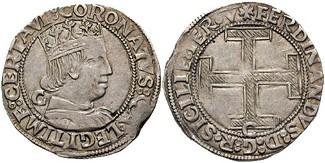 Crown issued by Ferdinand I of Naples Coronato 1458.jpg