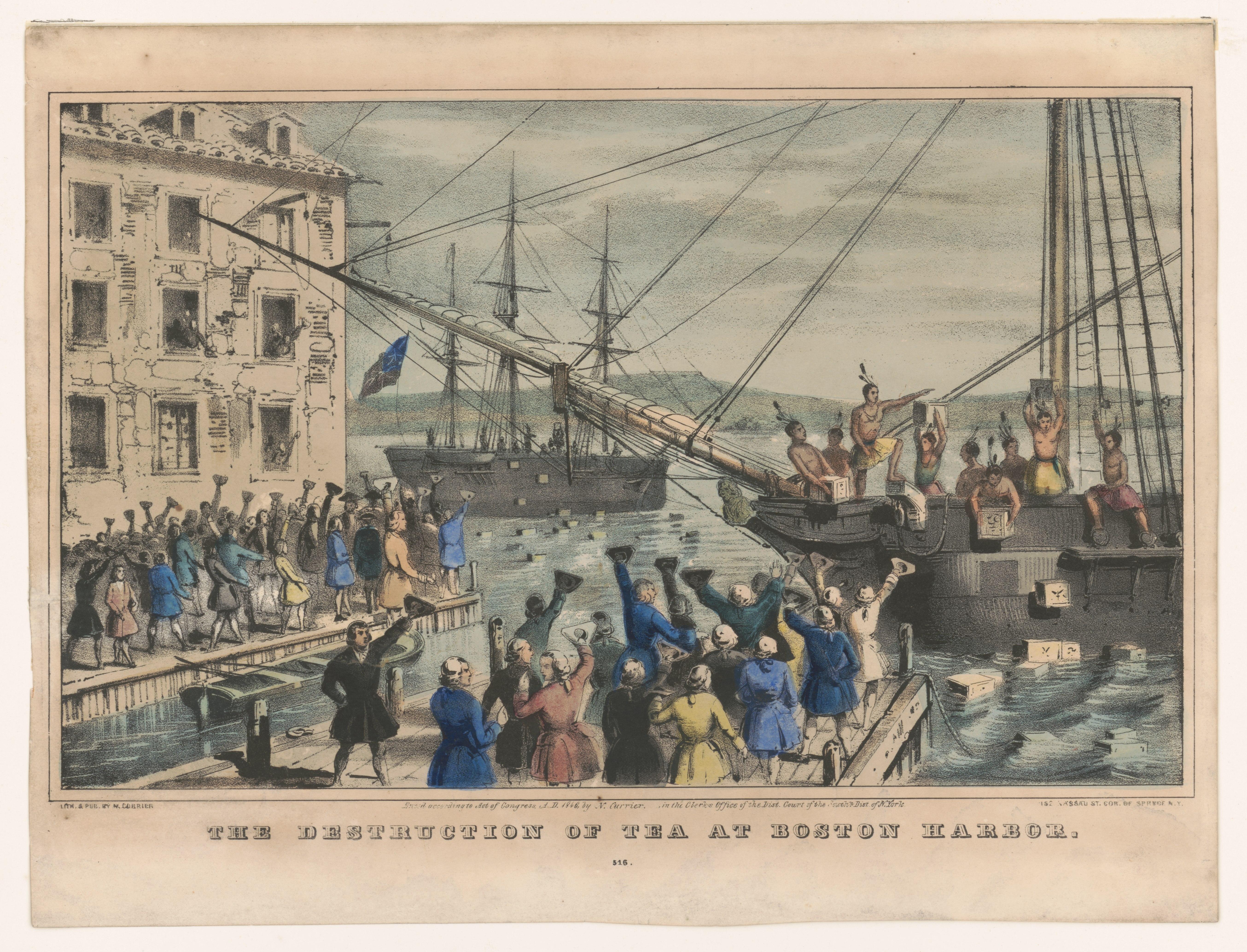 Rivolta contro il Tea Party (Dicembre 1773)