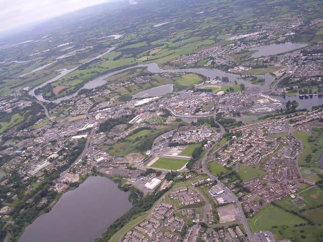 Enniskillen from the air at 2000ft - geograph.org.uk - 611018