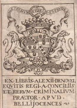File:Ex-libris Alexis Noyel de Belleroche XVIIIe France.JPG