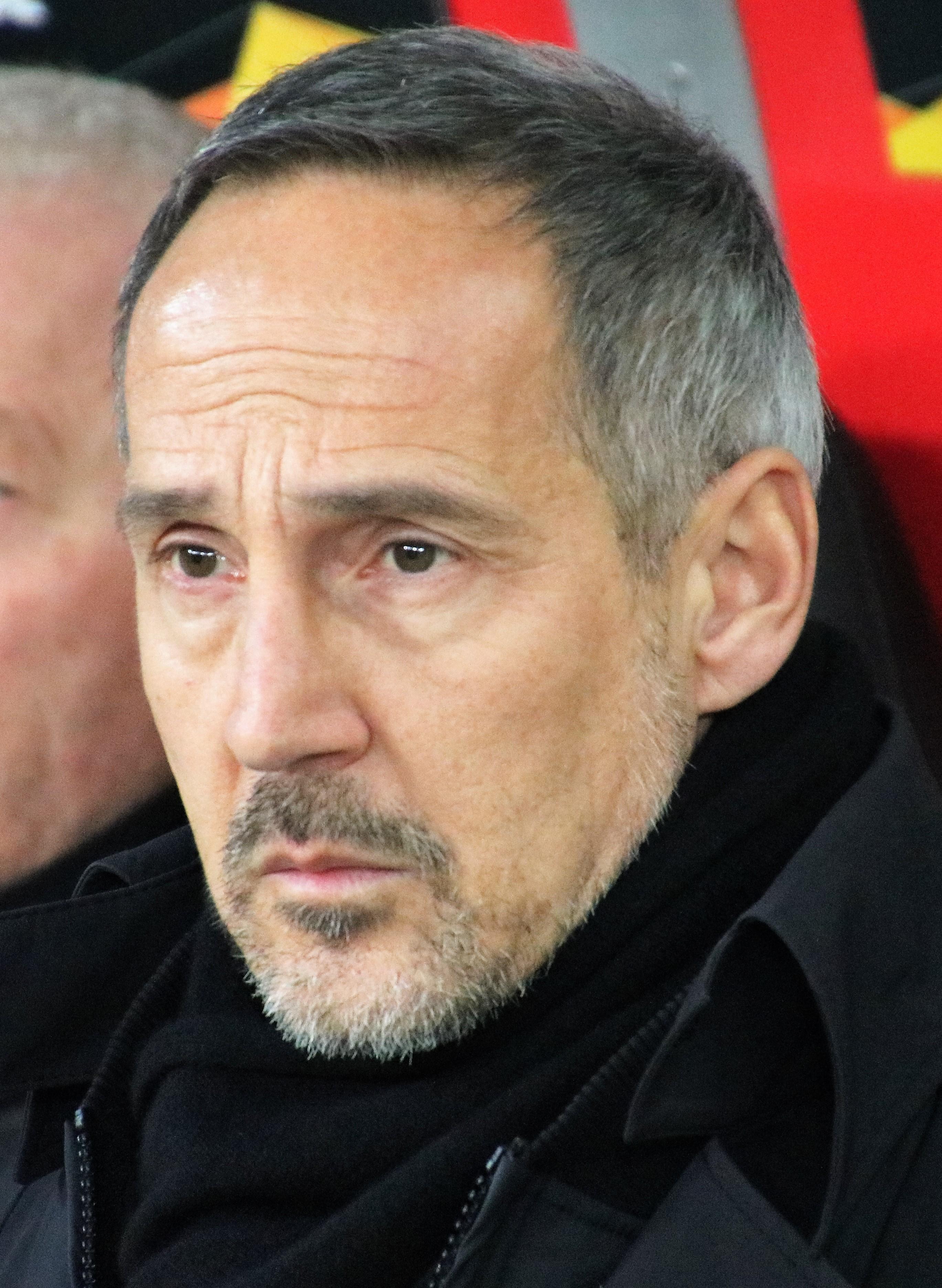 Hütter with [[Eintracht Frankfurt]] in 2020