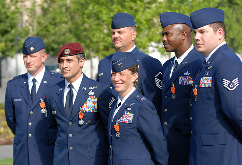 File first six usaf airmen to receive the air force combat for Air force decoration points