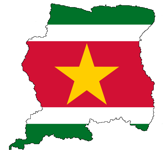 Flag-map of Suriname