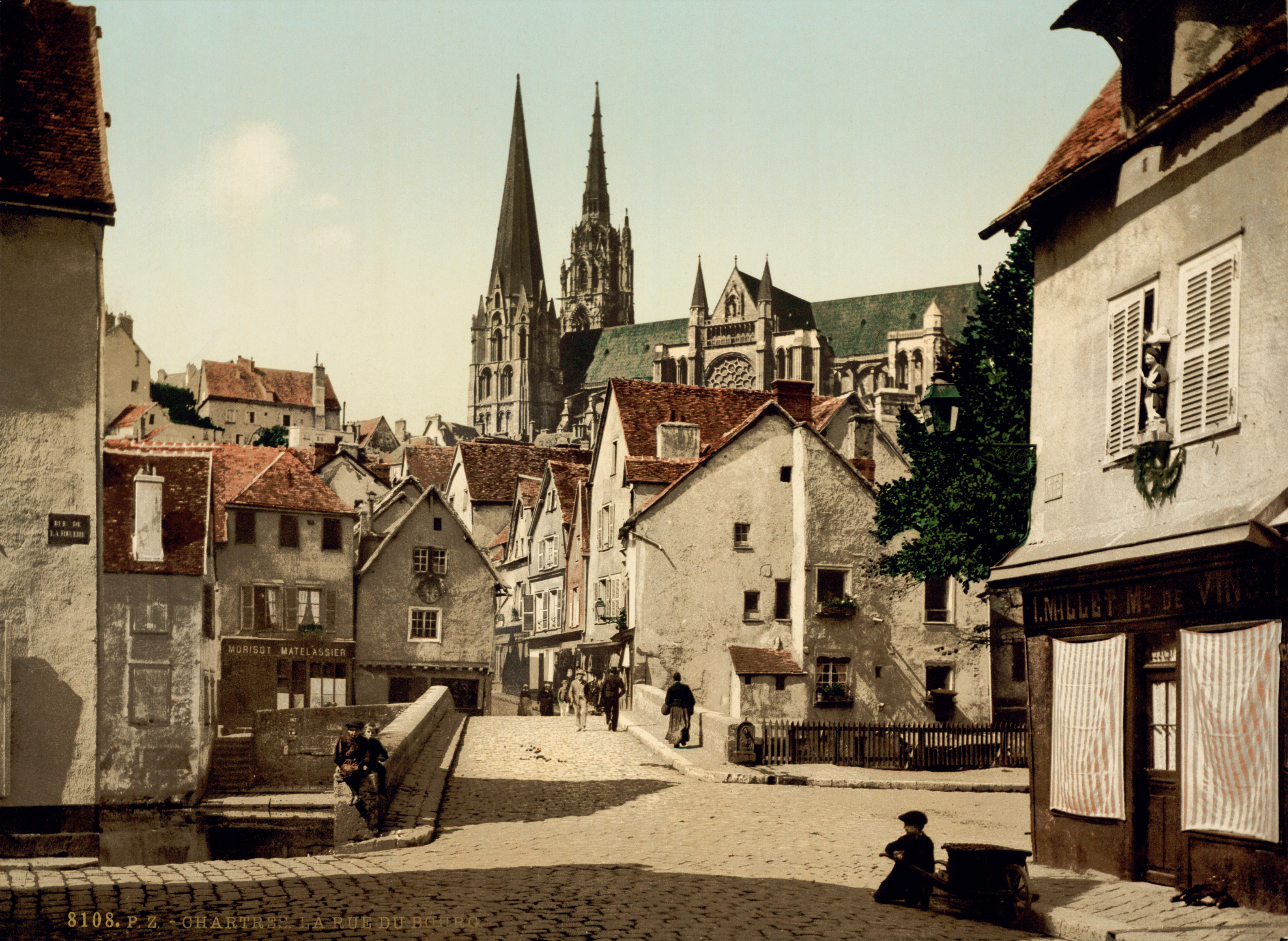 Chartres France  city photo : ... …trialsanderrors Rue du Bourg, Chartres, France, ca. 1895