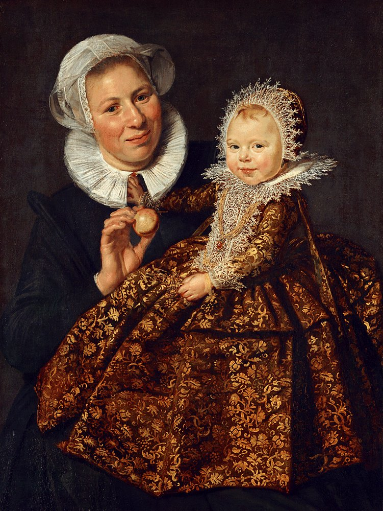 HALS, Frans The Infant Catharina Hooft with her Nurse c1619-20