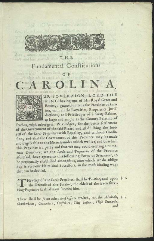 Fundamental Constitutions Of Carolina Wikipedia