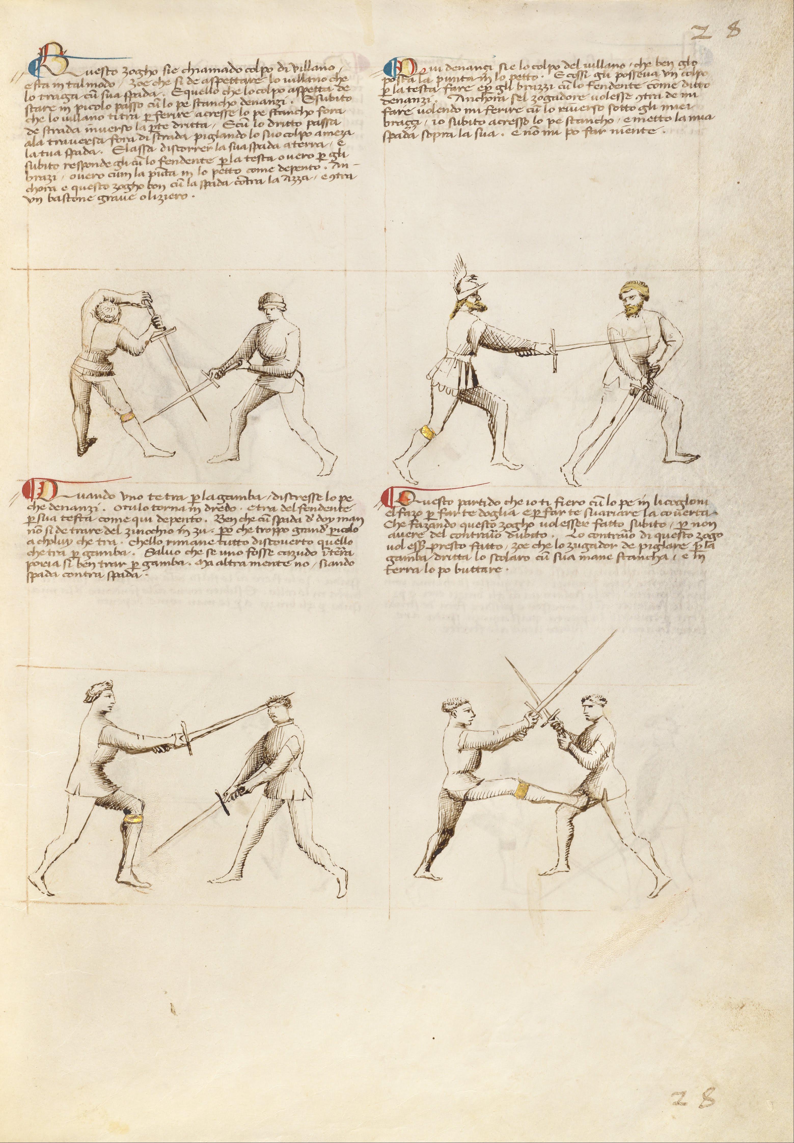 File Getty Ms Ludwig Xv 13 26r Fiore Dei Liberi Combat With Sword Google Art Project 6903432 Jpg Wikimedia Commons