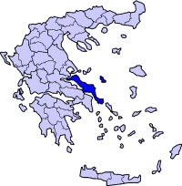 Location of 埃维亚 Prefecture in Greece