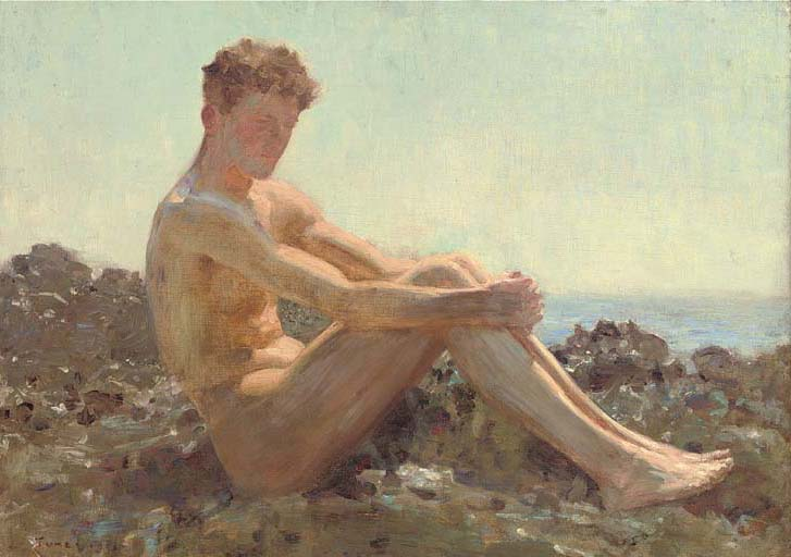 Henry Scott Tuke - The Sun-bather, 1911
