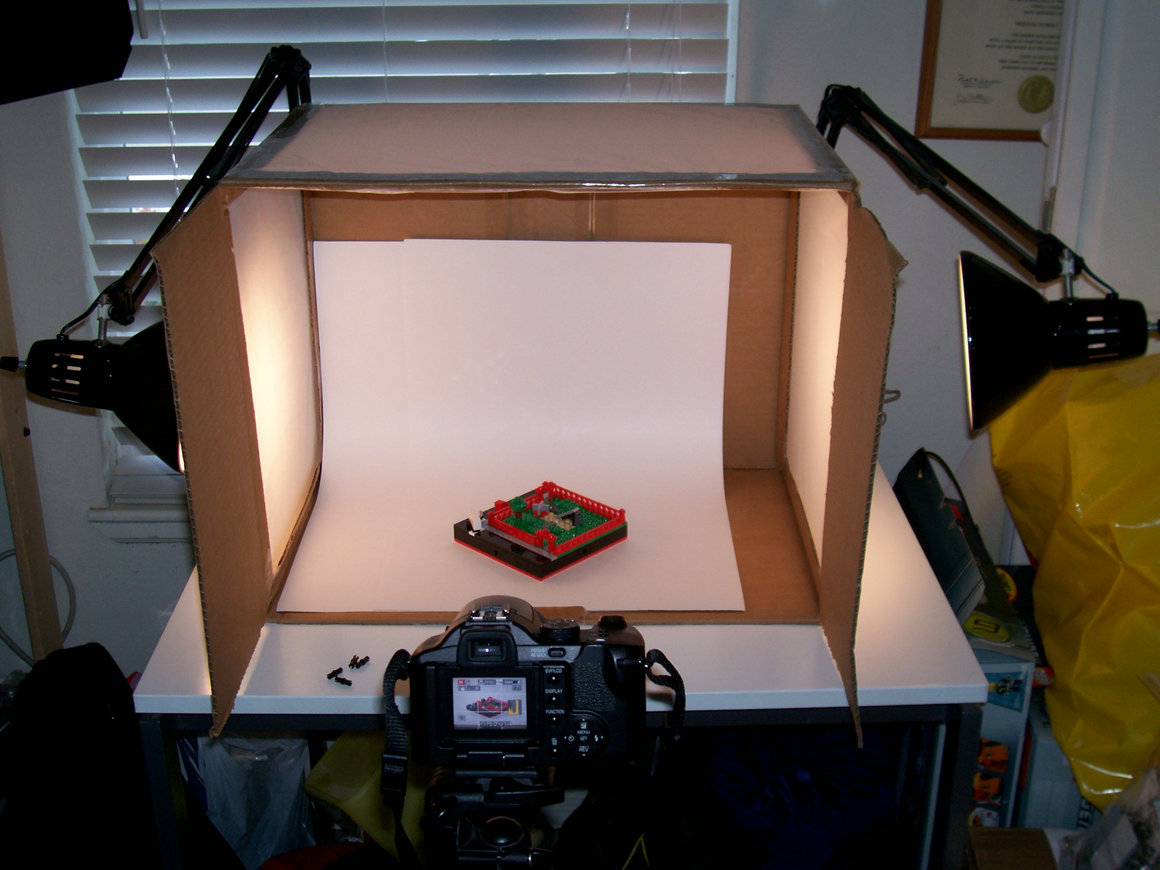 Marvelous File:Homemade Lightbox Built For Photographing LEGO