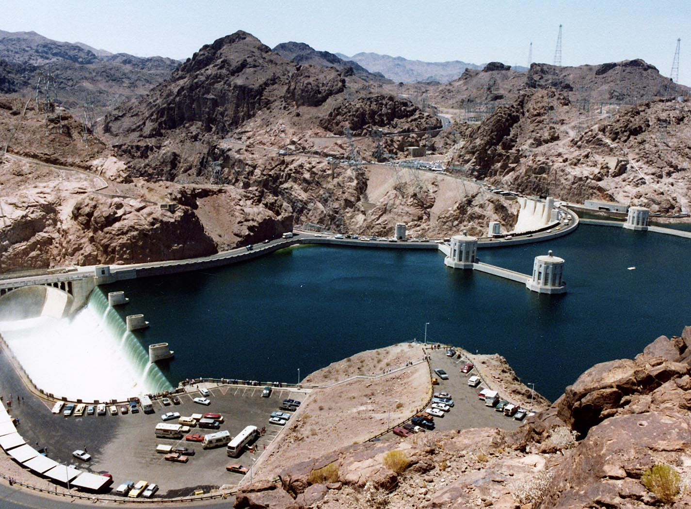 File:Hoover Dam and Arizona Spillway, 1983 jpg - Wikimedia Commons
