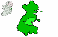 Location of Dublin City within the Dublin Region