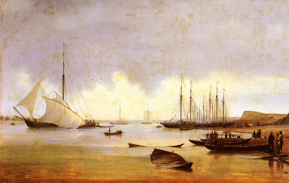 Ivanov anton Ivanovich Fishing Vessels Off A Jetty.jpg