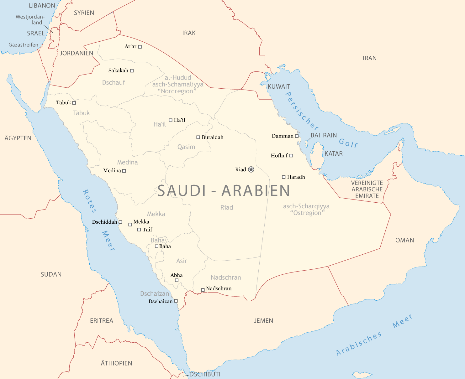 saudi arabien karte online world map. Black Bedroom Furniture Sets. Home Design Ideas