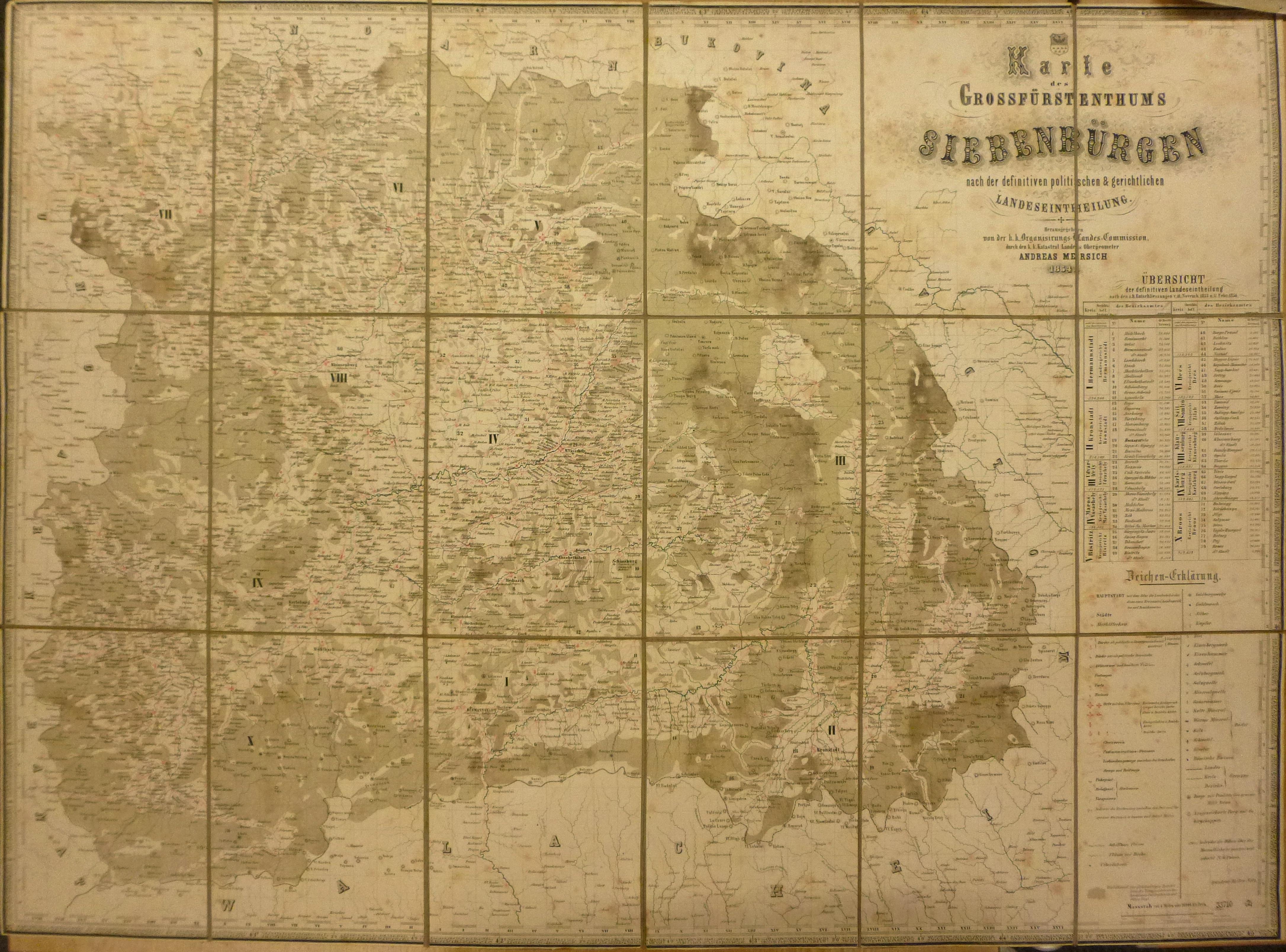 siebenbürgen karte File:Karte des Grossfürstentums Siebenbürgen nach der definitiven