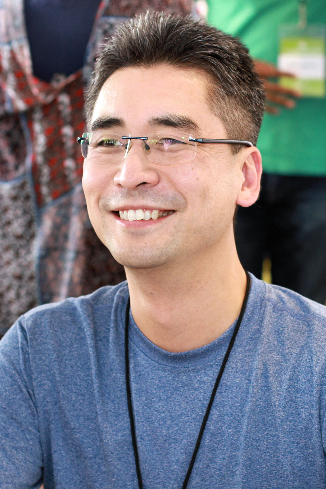 Kibuishi at the 2018 Texas Book Festival