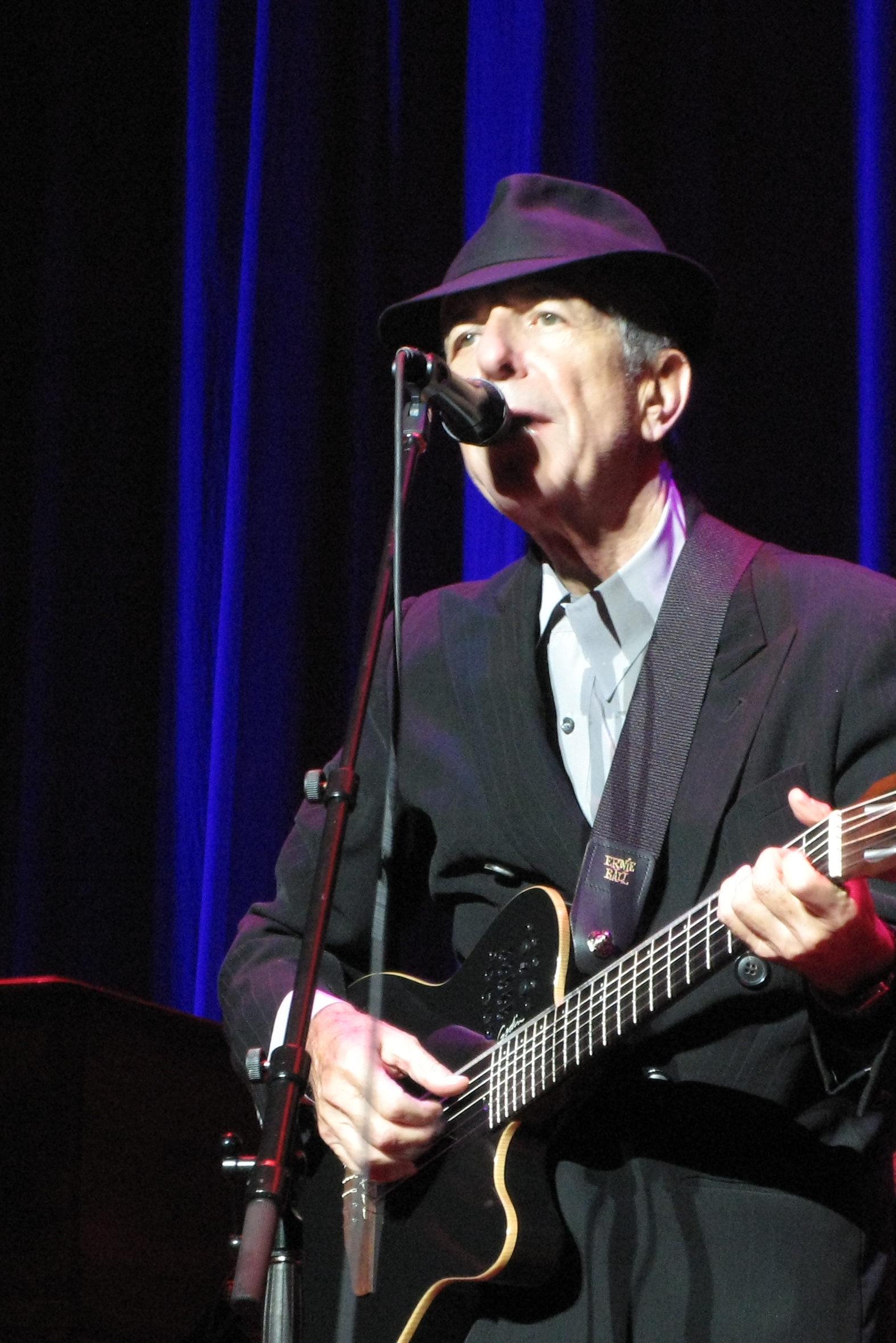 Leonard Cohen en 2008.