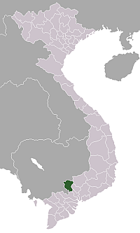 Location of Tây Ninh Province
