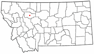 Location of Choteau, Montana